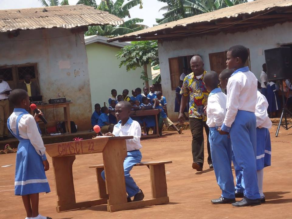 Giving Benches to Schools